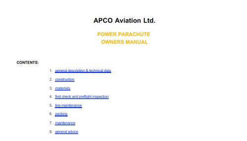 I-Apco Canopy Manual