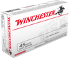 Winchester USA - 45 ACP 230 Grain Full Metal Jacket - 500 Rounds - Brass Case
