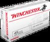 Winchester Ammunition - 45 Auto - 185 Grain Full Metal Jacket - 50 Rounds - Brass Case