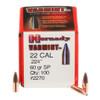 "Hornady Bullets - .224"" (22 Cal) - 60 Grain Soft Point - 100 Projectiles"