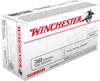 Winchester USA Ammunition - 38 Special - 130 Grain Full Metal Jacket - 50 Rounds W/ Free Ammo Can