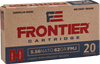 Frontier Ammunition - 5.56x45mm NATO - 62 Grain Full Metal Jacket Boat Tail - 20 Rounds - Brass Case