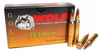 Wolf Gold - 223 Remington 55 Grain Full Metal Jacket - 1000 Rounds - Brass Case***LIMIT 2 PER ORDER***
