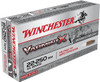 Winchester 22-250 Remington 55 Grain Varmint X - 200 Rounds - Brass Case