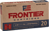Frontier 5.56 NATO 75 Grain Boat Tail Hollow Point Match - 500 Rounds - Brass Case