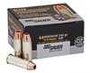 Sig Sauer Elite Performance 44 Remington Magnum 240 Grain V-Crown Jacketed Hollow Point - 200 Rounds - Brass Case