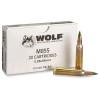 Wolf  Ammunition 5.56x45 MM NATO M855  62 Grain Full Metal Jacket - 1000 Rounds - Brass Case