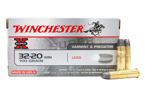Winchester Super-X Ammunition - 32-20 Winchester - 100 Grain Lead Flat Nose - 100 Rounds W/ Free Ammo Can