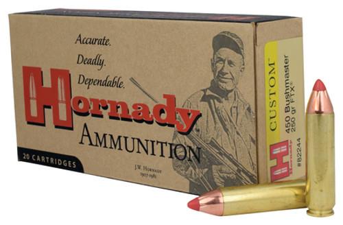 Hornady Custom Ammunition - 450 Bushmaster -250 Grain FTX - 100 Rounds W/ Free Ammo Can