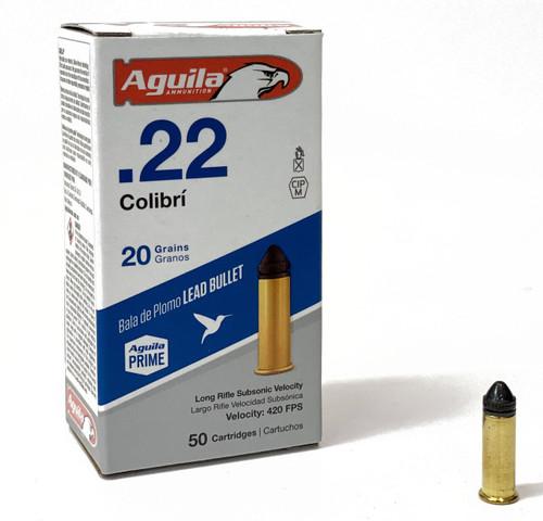 Aguila Ammunition - 22 Long Rifle - 20 Grain Lead - Colibri - Powderless  - 500 Rounds W/ Free Ammo