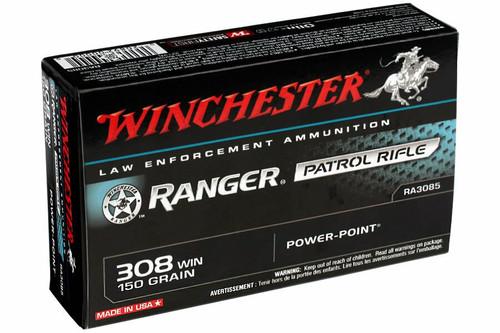 Winchester Ranger Ammunition - 308 Winchester - 150 Grain Power Point - 100 Rounds