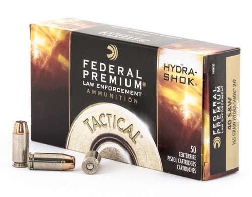 Federal Premium Ammunition - 40 S&W - 165 Grain Hydra-Shok Hollow Point - 100 Rounds W/ Free Ammo Can
