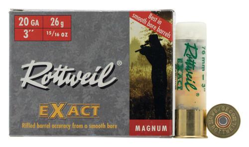 "Rottweil Exact Magnum - 20 Gauge - 3"" Magnum - 15/16 Oz. - 200 Rounds - Case"
