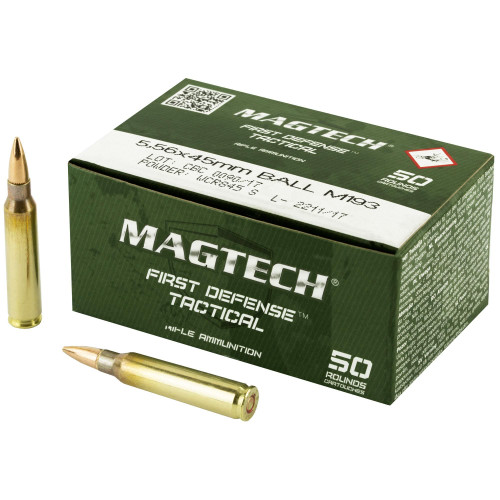 Magtech Ammunition - 5.56x45 MM - 55 Grain M193 Full Metal Jacket - 100 Rounds W/ Free Ammo Can
