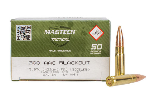 Magtech Ammunition - 300 AAC Blackout - 123 Grain Full Metal Jacket - 100 Rounds W/ Free Ammo Can
