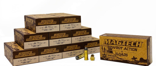 Magtech Ammunition - 45 Long Colt - 200 Grain Lead Flat Point - 50 Rounds W/ Free Ammo Can - Brass Case