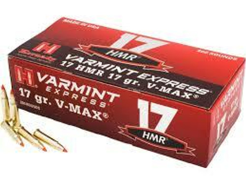 Hornady Varmit Express Ammunition - 17 HMR - 17 Grain V-Max - 200 Rounds W/ Free Ammo Can