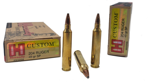 Hornady Ammunition - 204 Ruger - 45 Grain Soft Point - 100 Rounds W/ Free Ammo Can