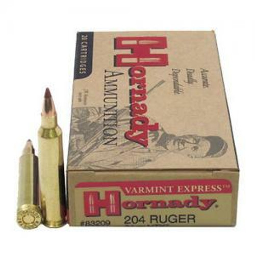 Hornady Varmint Express Ammunition - 204 Ruger - 24 Grain NTX - 100 Rounds W/ Free Ammo Can