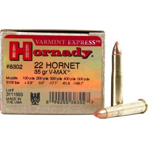 Hornady Varmint Express Ammunition - 22 Hornet - 35 Grain V-Max - 100 Rounds W/ Free Ammo Can