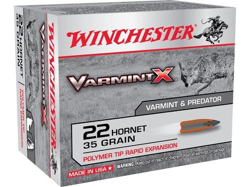 Winchester VarmintX Ammunition - 22 Hornet - 35 Grain Polymer Tip - 100 Rounds W/ Free Ammo Can