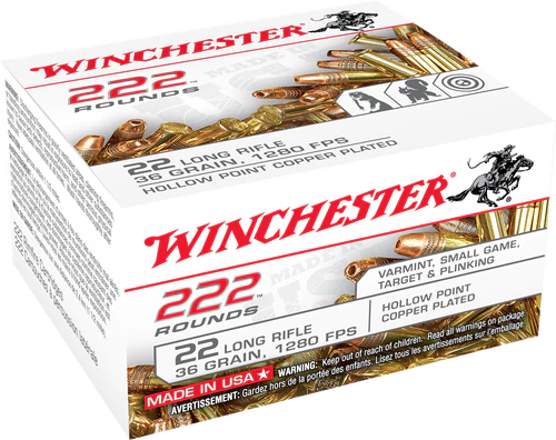 Winchester - 22 Long Rifle 36 Grain Hollow Point - 2220 Rounds - Brass Case