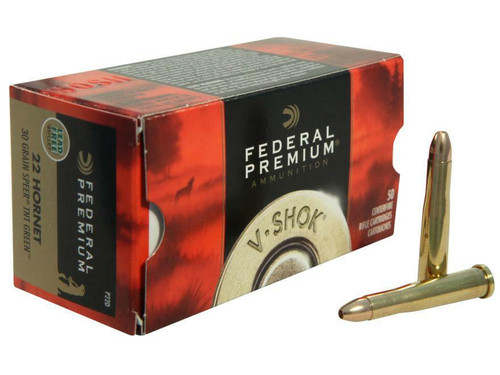 Federal Premium Ammunition - 22 Hornet - 30 Grain Speer TNT Green - 100 Rounds  W/ Free Ammo Can