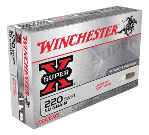Winchester Super-X Ammunition - 220 Swift - 50 Grain Jacketed Soft Point - 80 Rounds W/ Free Ammo Can