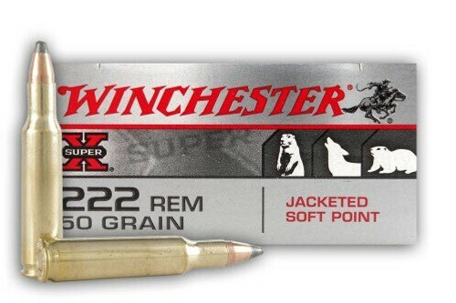 Winchester Super-X Ammunition - 222 Remington - 50 Grain Jacketed Soft Point - 100 Rounds W/ Free Ammo Can