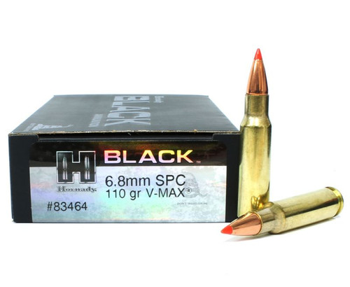 Hornady Black Ammunition - 6.8 MM Rem SPC - 110 Grain V-Max - 40 Rounds W/ Free Ammo Can