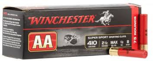 """Winchester AA Ammunition - 410 Gauge - 8 Shot - 2 1/2"""" - 75 Rounds W/ Free Ammo Can"""