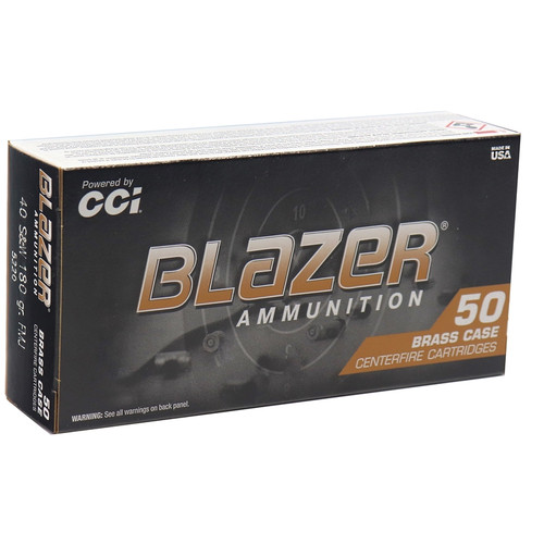 CCI Blazer Ammunition - 40 S&W - 180 Full Metal Jacket - 100 Rounds W/ Free Ammo Can