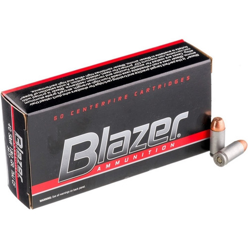 CCI Blazer Clean Fire Ammunition - 40 S&W - 180 Grain Total Metal Jacket - 100 Rounds W/ Free Ammo Can