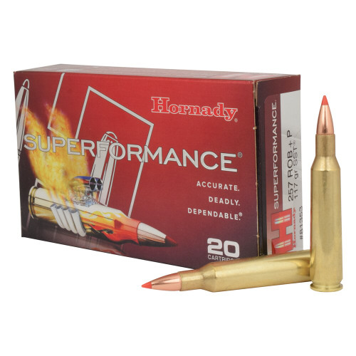 Hornady Superformance Ammunition - 257 Roberts +P - 117 Grain SST - 100 Rounds W/ Free Ammo Can
