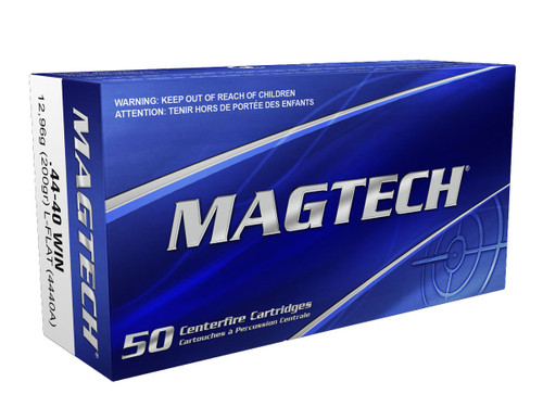 MagTech Ammunition - 44-40 Win - 200 Grain Lead Flat Point - 50 Rounds W/ Free Ammmo Can