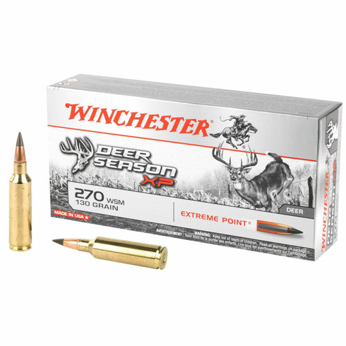 Winchester Deer Season XP Ammunition - 270 WSM - 130 Grain Extreme Point - 60 Rounds W/ Free Ammo Can