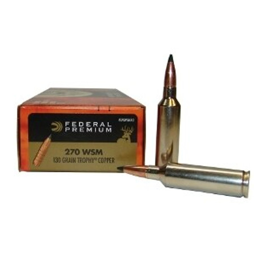 Federal Premium Ammunition - 270 WSM - 130 Grain Trophy Copper - 60 Rounds W/ Free Ammo Can