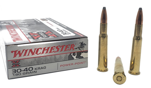 Winchester Super-X Ammunition - 30-40 Krag - 180 Power-Point - 40 Rounds W/ Free Ammo Can