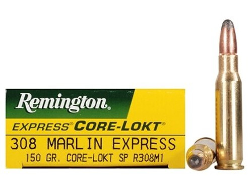 Remington Core-Lokt Ammunition - 308 Marlin Express - 150 Grain Soft Point - 100 Rounds W/ Free Ammo Can