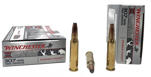 Winchester Super-X Ammunition - 307 Winchester - 180 Grain Power Point - 80 Rounds W/ Free Ammo Can