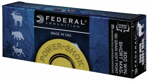 Federal Ammunition - 300 Winchester Short Magnum - 180 Grain Soft Point - 60 Rounds W/ Free Ammo Can