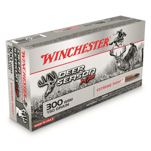 Winchester Deer Season Ammunition - 300 Winchester Short Mag - 150 Grain Extreme Point Polymer Tip - 60 Rounds W/ Free Ammo Can