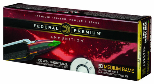 Federal Premium Ammunition - 300 Winchester Short Mag - 150 Grain Nosler Ballistic Tip - 60 Rounds W/ Free Ammo Can