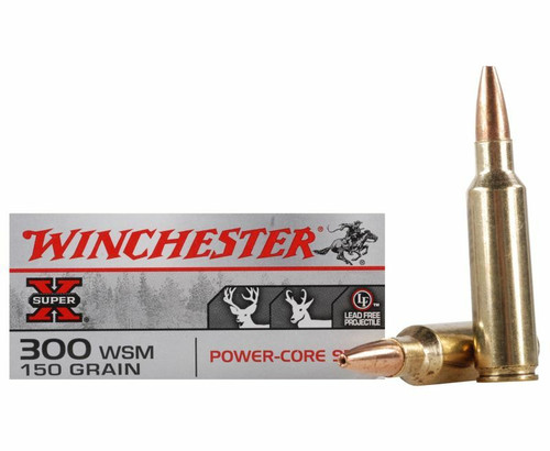 Winchester Super-X Ammunition - 300 Winchester Short Mag - 150 Grain Power-Core (Lead Free) - 60 Rounds W/ Free Ammo Can