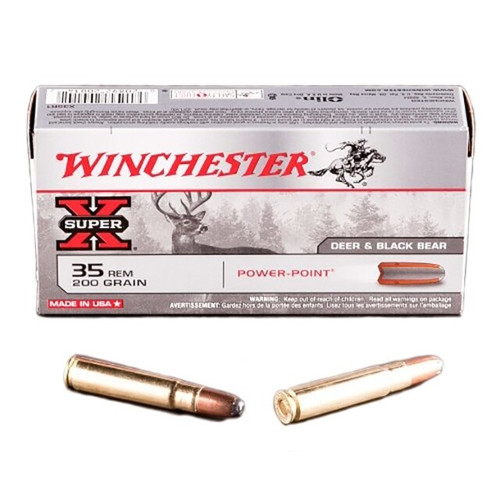 Winchester Super-X Ammunition - 35 Remington - 200 Grain Power Point - 100 Rounds W/ Free Ammo Can