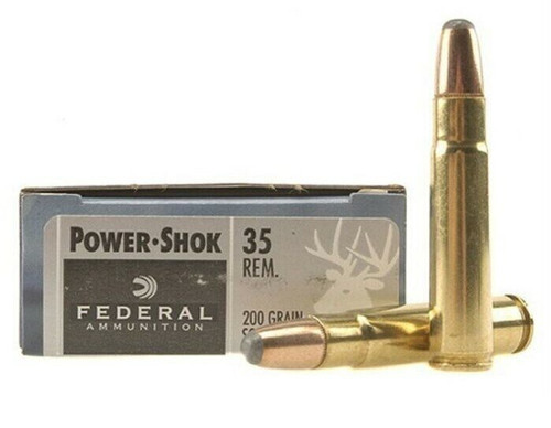 Federal Power-Shok Ammunition - 35 Remington - 200 Grain Soft Point - 100 Rounds W/ Free Ammo Can