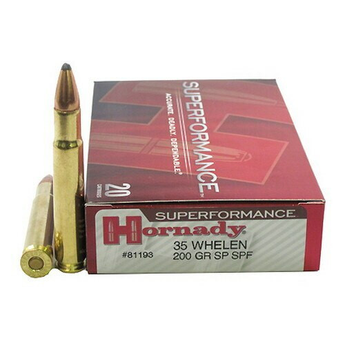 Hornady Superformance Ammunition - 35 Whelen - 200 Grain Soft Point - 100 Rounds W/ Free Ammo Can