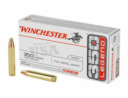 Winchester Ammunition - 350 Legend - 145 Full Metal Jacket -100 Rounds W/ Free Ammo Can