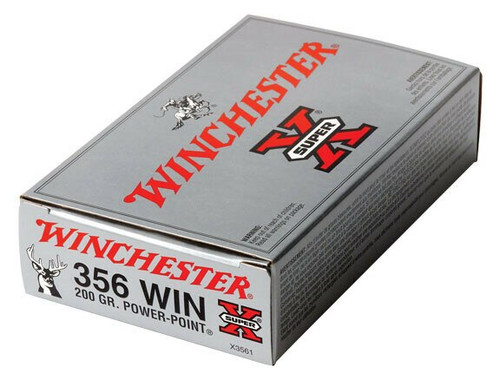 Winchester Super-X Ammunition - 356 Winchester - 200 Grain Power Point - 80 Rounds W/ Free Ammo Can