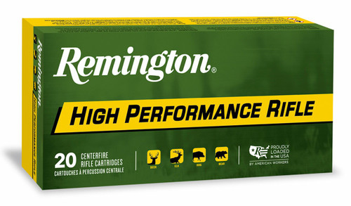 Remington High Performance Ammunition - 375 Remington Ultra Mag - 270 Grain Soft Point - 40 Rounds W/ Free Ammo Can
